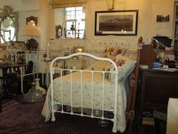 Brass and Iron single bedstead At Staveley Antiques, by Peyton and Peyton