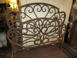 French Double Iron  and Brass bedstead