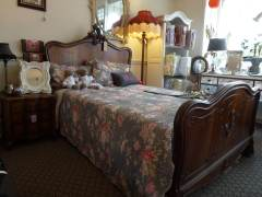 restored french and antique brass and iron beds