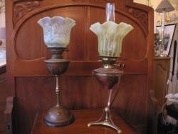 Antique lighting at Staveley antiques