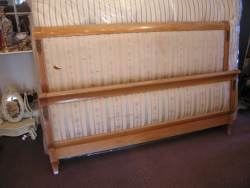 Light wood Rolled Edge Bedstead At Staveley Antiques