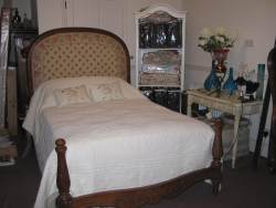 Walnut Upholstered French Bed At Staveley Antiques