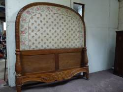 Carved Walnut Double bedstead, beautifully carved At Staveley Antiques