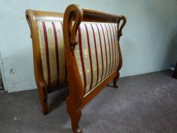 French Walnut single daybed At Staveley Antiques