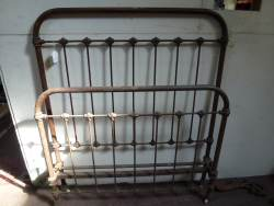 Pair of French Iron Bedsteads At Staveley Antiques
