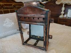 Copper lantern at Staveley Antiques
