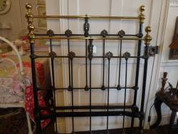 Brass and Iron English Single Bedstead at Staveley Antiques.
