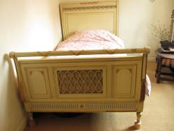 Louis XV walnut double bedstead At Staveley Antiques