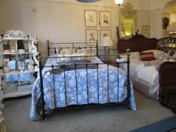 Brass and Iron French bedstead At Staveley Antiques